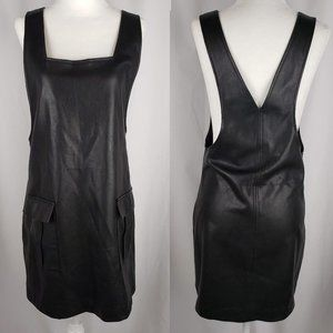 Forever 21 Faux Leather Overall Mini Dress M